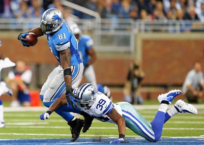 Calvin Johnson Was Tackled Inside 2 yards Of The Goal Line 16 Times In His Career.